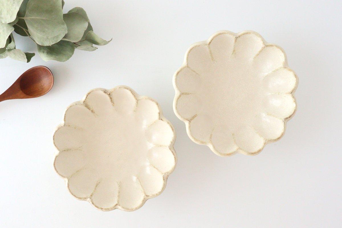 美濃焼 菊花 6寸鉢 白 磁器 画像2