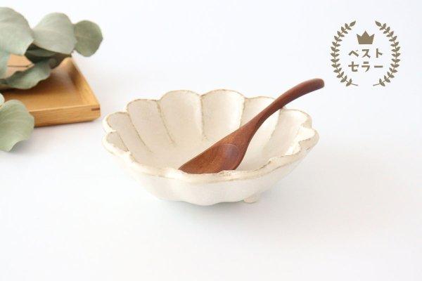 美濃焼 菊花 6寸鉢 白 磁器商品画像