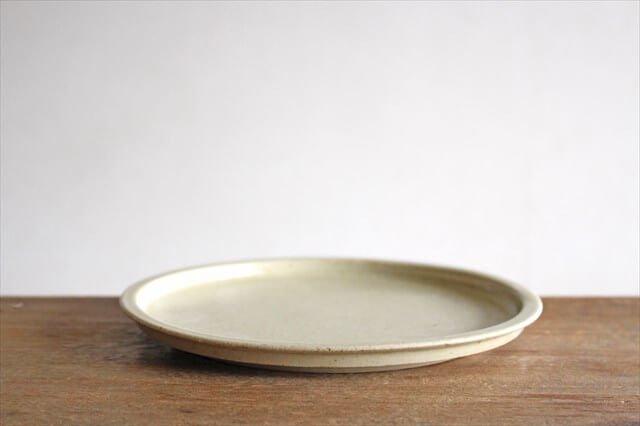 6寸リム皿 黄瀬戸釉OF 半磁器 こいずみみゆき 画像2