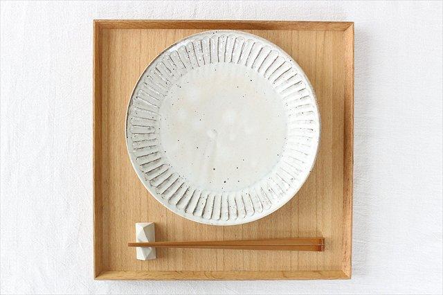 面取箸置 白 陶器 美濃焼  画像2