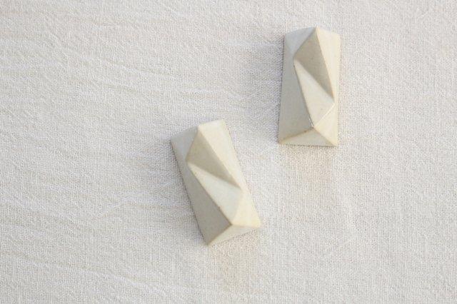 面取箸置 白 陶器 美濃焼  画像3