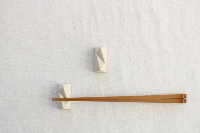 面取箸置 白 陶器 美濃焼  画像4