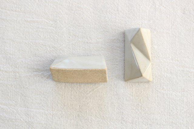 面取箸置 白 陶器 美濃焼  画像5