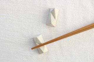 美濃焼 面取箸置 白 陶器 商品画像