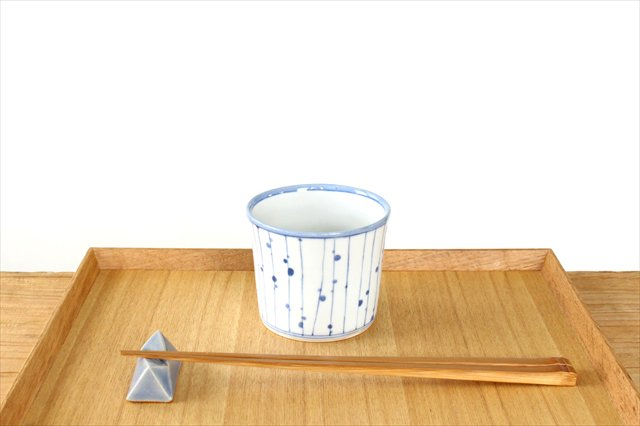美濃焼 面取箸置 青 陶器  画像2