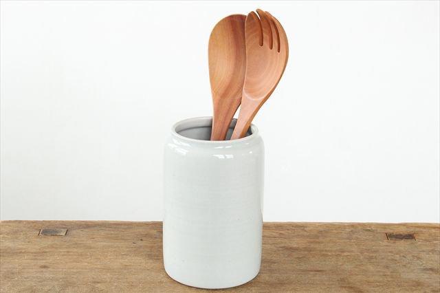 カトラリースタンド 白 陶器 こいずみみゆき
