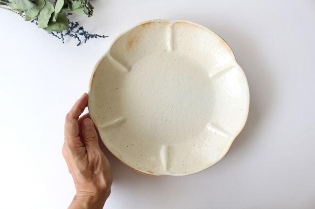 鉄散 輪花浅鉢 大 陶器 古谷製陶所 画像4