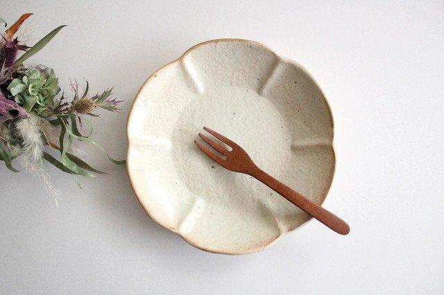 鉄散 輪花浅鉢  小 陶器 古谷製陶所