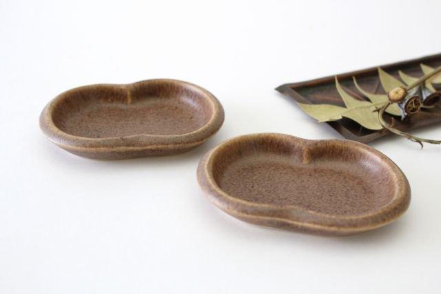 豆豆皿 茶 陶器 古川まみ 画像4