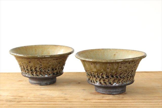 灰釉彫文 茶碗 赤土 陶器 岡村宜治 画像6