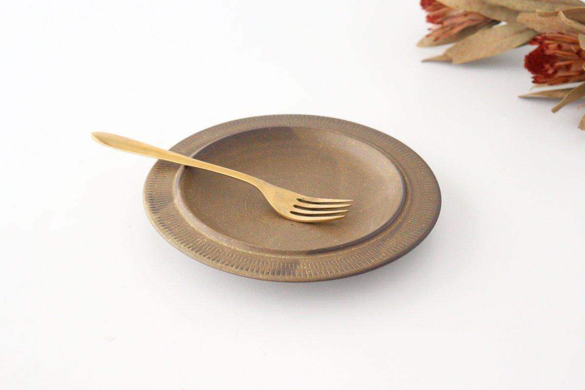 黒マット皿 小 陶器 翁明窯元 小石原焼