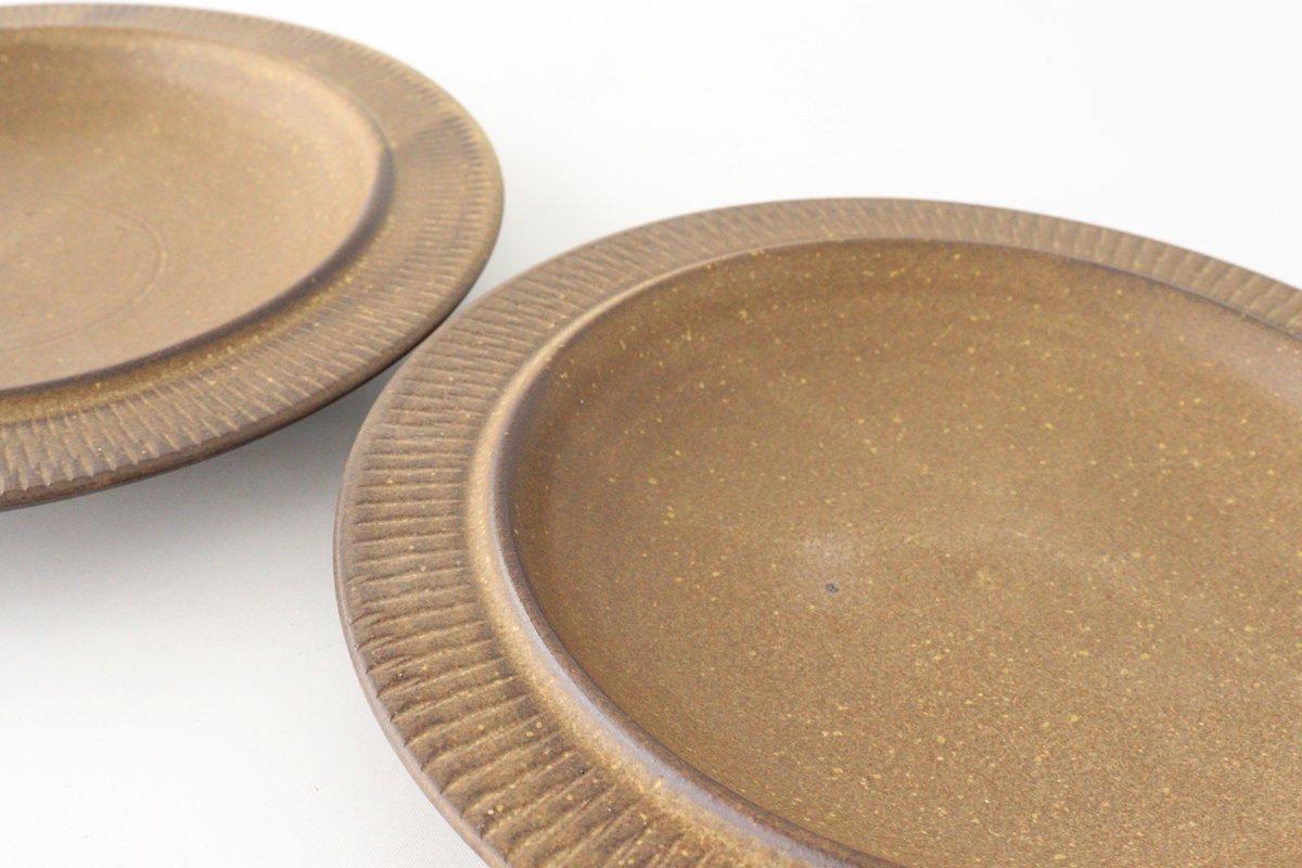 黒マット皿 小 陶器 翁明窯元 小石原焼 画像3