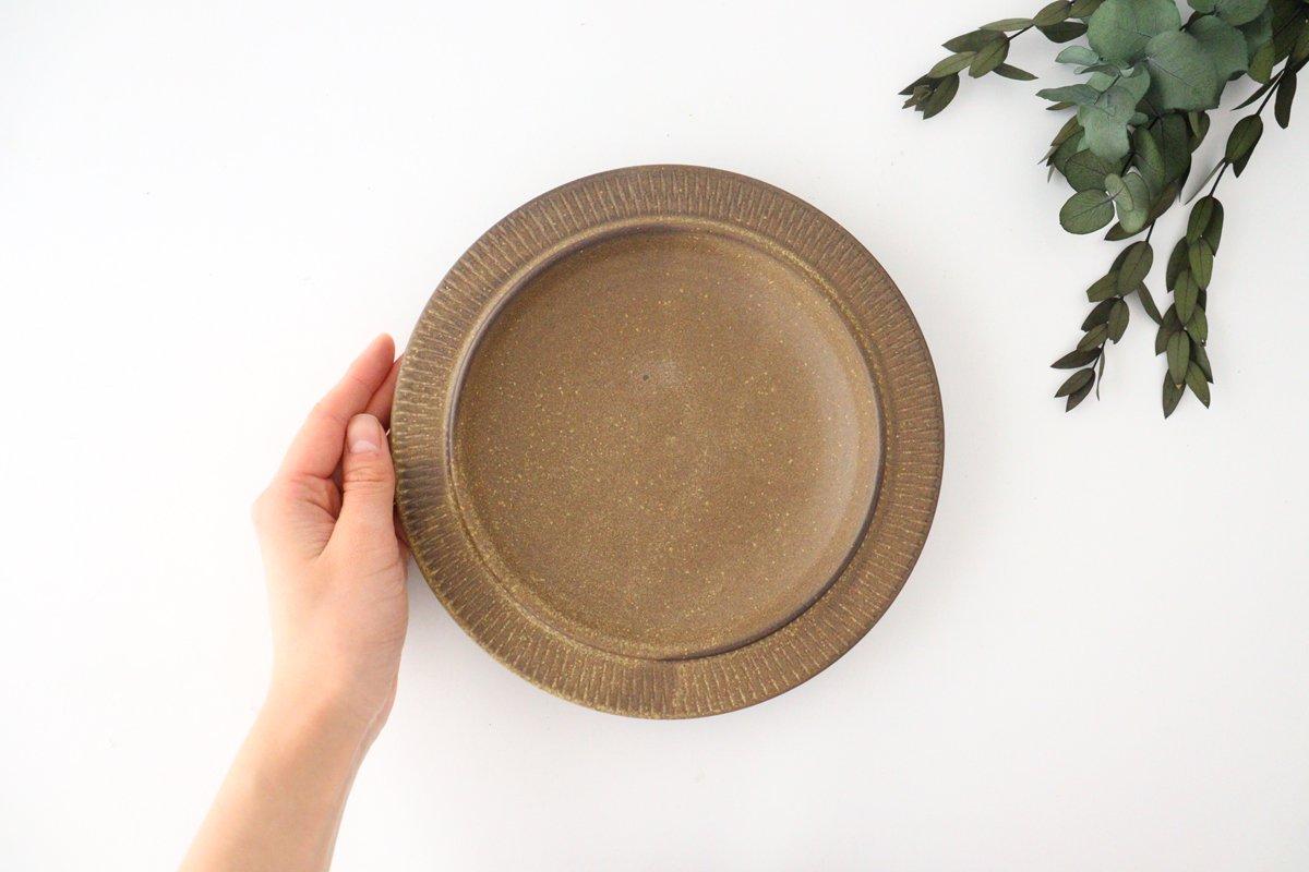 黒マット皿 小 陶器 翁明窯元 小石原焼 画像5