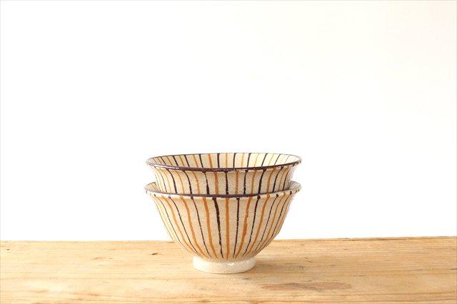 飯碗 二色十草 陶器 小春花窯 画像6
