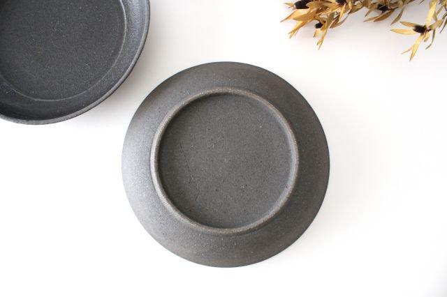 7寸リム皿 黒 陶器 寺田昭洋 画像6