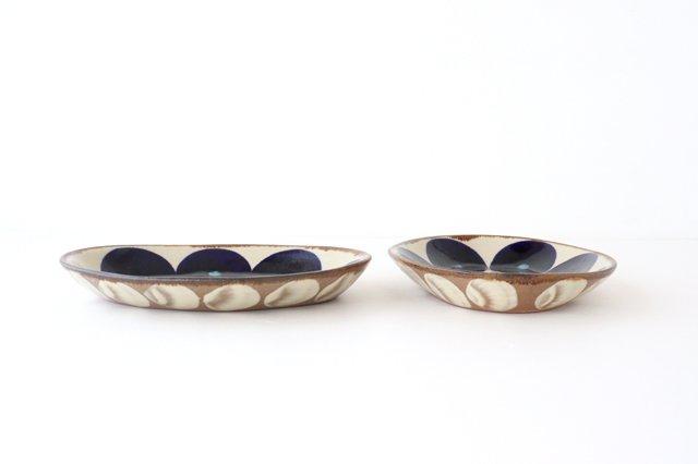 オーバル皿 青丸紋 陶器 エドメ陶房 やちむん 画像4