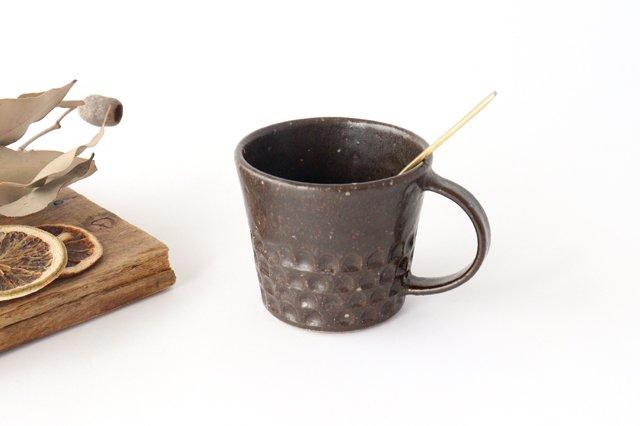 ブロックマグ 茶 陶器 伊藤豊