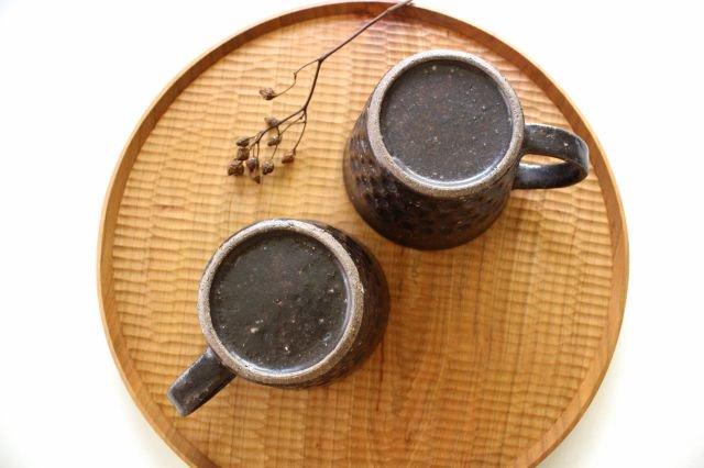 ブロックマグ 茶 陶器 伊藤豊 画像4