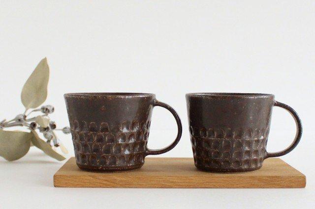 ブロックマグ 茶 陶器 伊藤豊 画像5