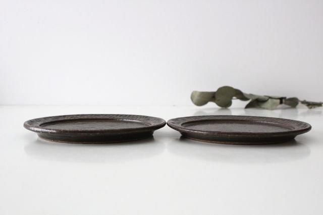 角皿 大 格子 陶器 一翠窯 画像2