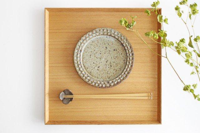 ブロックプレート もえぎ  陶器 伊藤豊 画像4