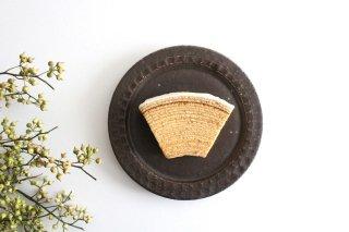 ブロックプレート 茶 陶器 伊藤豊商品画像