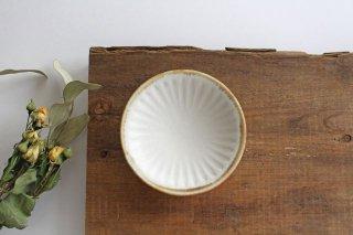 ホワイト鎬3寸皿 陶器 中野明彦商品画像