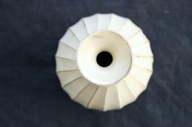 【一点もの】鎬一輪挿し 陶器 後藤義国 画像2