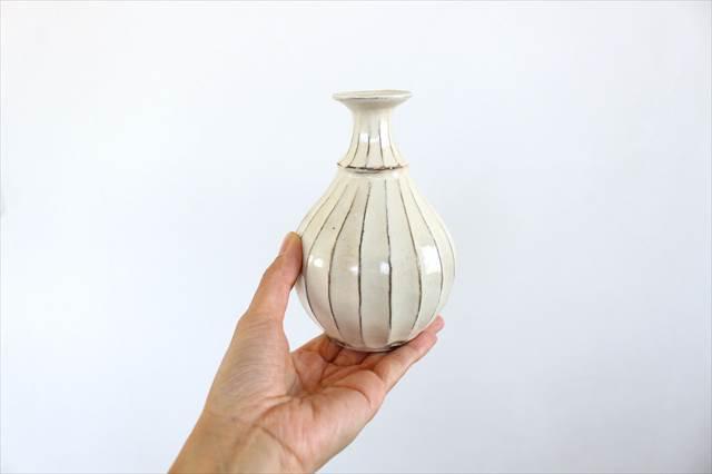 【一点もの】鎬一輪挿し 陶器 後藤義国 画像3