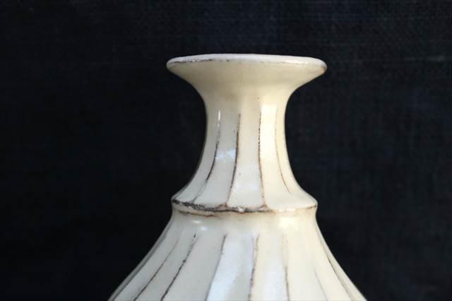 【一点もの】鎬一輪挿し 陶器 後藤義国 画像4