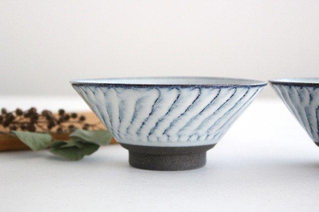 美濃焼 スパイラル平茶碗 ホワイト 陶器  画像2