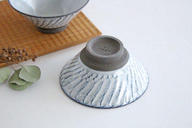 美濃焼 スパイラル平茶碗 ホワイト 陶器  画像3