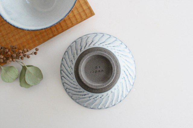 美濃焼 スパイラル平茶碗 ホワイト 陶器  画像6