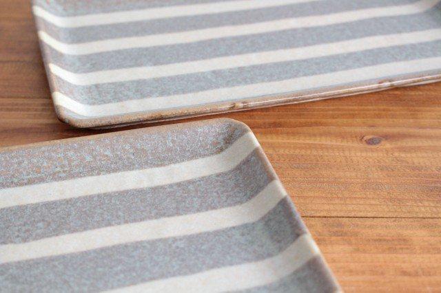 美濃焼 ストライププレート グレー 陶器  画像4