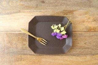 錆釉 八角ケーキ皿 陶器 古谷製陶所商品画像