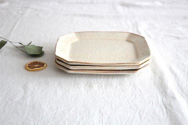 鉄散 八角ケーキ皿 陶器 古谷製陶所 画像2