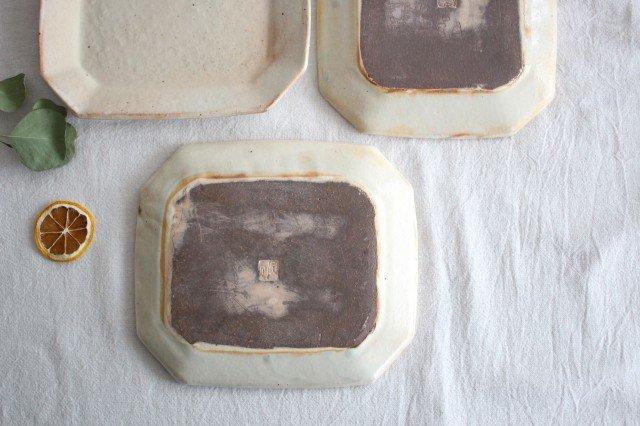 鉄散 八角ケーキ皿 陶器 古谷製陶所 画像3