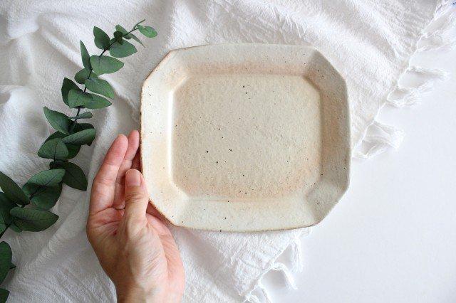 鉄散 八角ケーキ皿 陶器 古谷製陶所 画像4