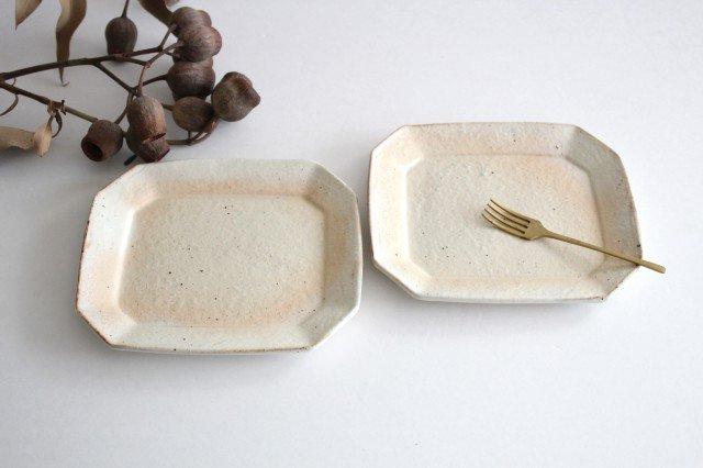 鉄散 八角ケーキ皿 陶器 古谷製陶所 画像5