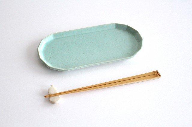 切り身皿 ミント 半磁器 アトリエキウト 小出麻紀子 画像2
