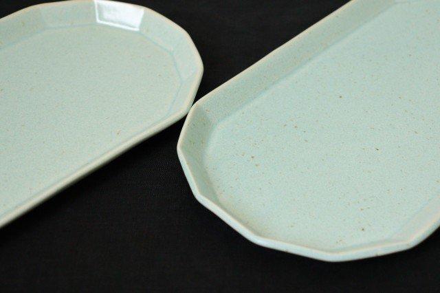 切り身皿 ミント 半磁器 アトリエキウト 小出麻紀子 画像3