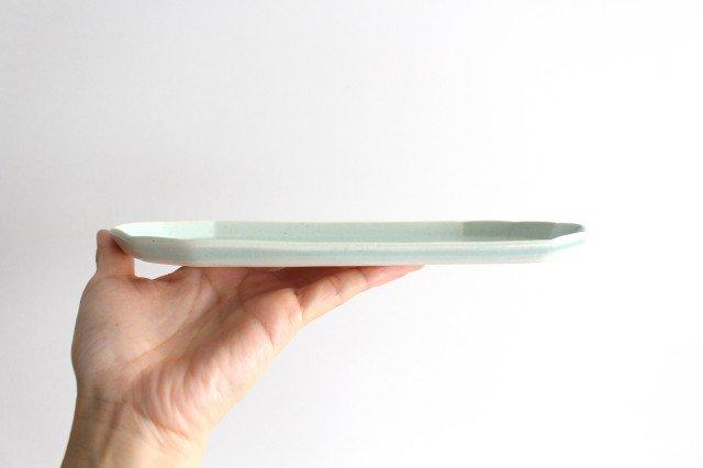 切り身皿 ミント 半磁器 アトリエキウト 小出麻紀子 画像4
