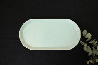 切り身皿 ミント 半磁器 アトリエキウト 小出麻紀子商品画像