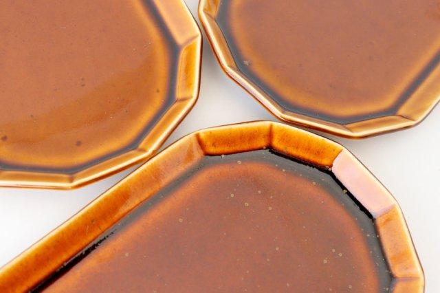 切り身皿 カラメル 半磁器 アトリエキウト 小出麻紀子 画像6