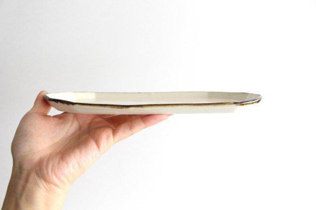 切り身皿 ホワイト 半磁器 アトリエキウト 小出麻紀子 画像2