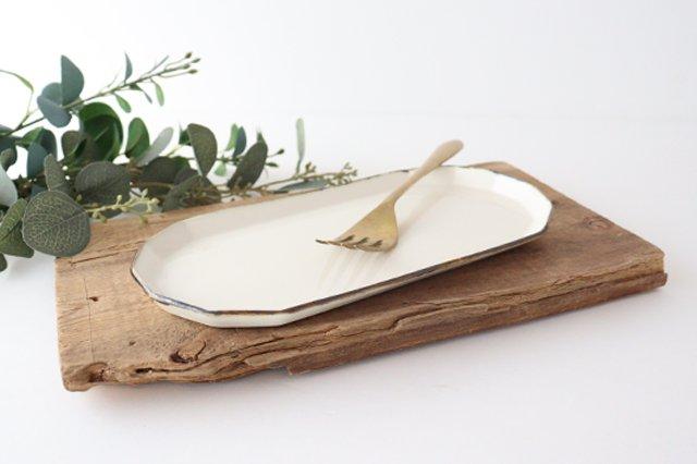 切り身皿 ホワイト 半磁器 アトリエキウト 小出麻紀子 画像4