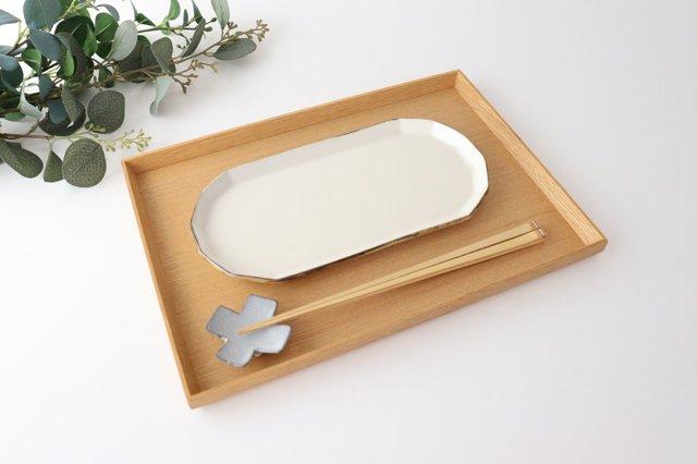 切り身皿 ホワイト 半磁器 アトリエキウト 小出麻紀子 画像5