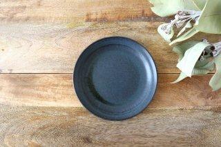 打ちつけリム皿 青黒 陶器 都築明 商品画像