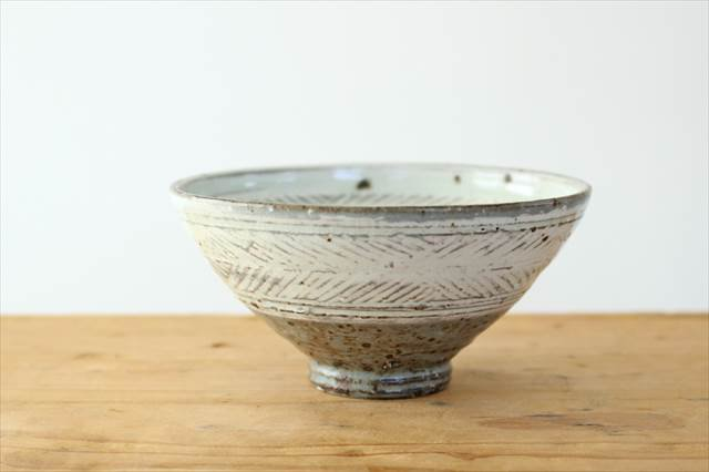 彫三島飯碗 【A】 陶器 額賀円也