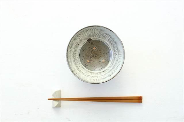 彫三島飯碗 【A】 陶器 額賀円也  画像2